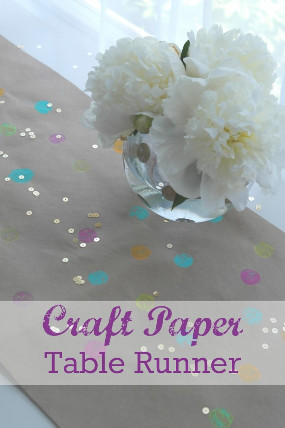 DIY Craft Paper Polka Dot Table Runner | CatchMyParty.com