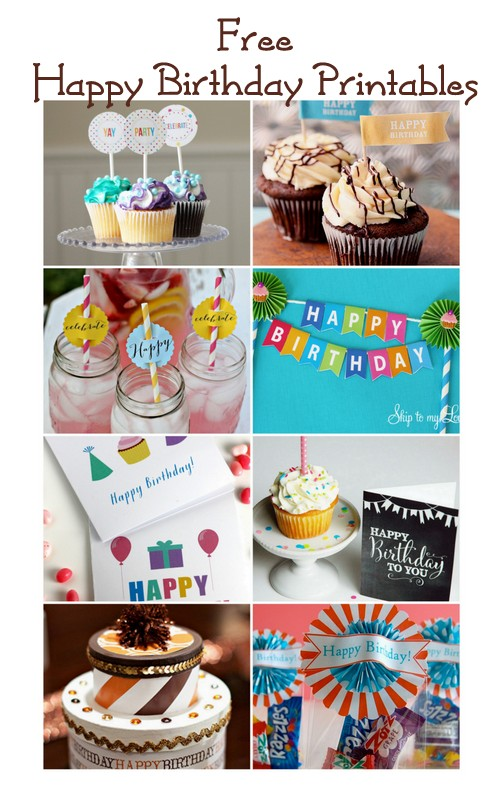 Free happy birthday printables + blog hop | CatchMyParty.com