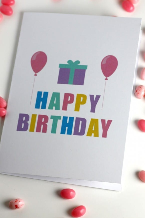 Free printable birthday cards - Design Balloon and gift