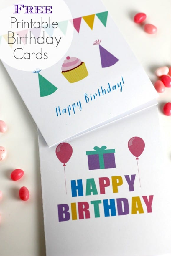 Free printable birthday cards perfect for kids, adults, and relatives! Blank inside! | CatchMyParty.com