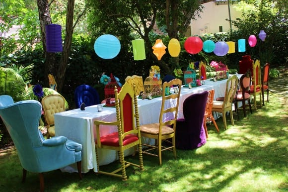 Alice in Wonderland Party Table Ideas | CatchMyParty.com