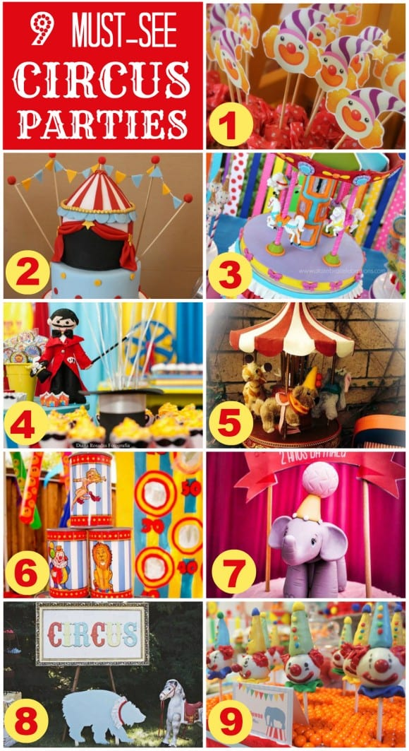 9 amazing circus parties you've got to see! | CatchMyParty.com