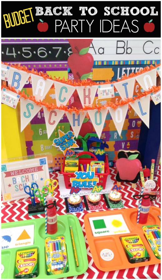 Budget Back to School Party Ideas | CatchMyParty.com