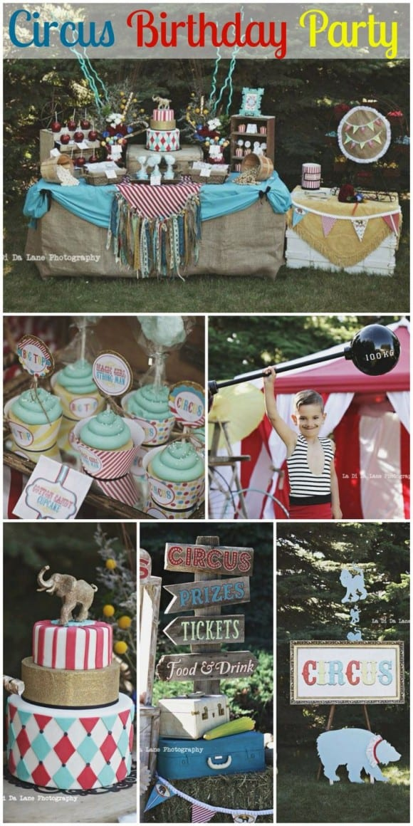 Amazing circus birthday party you've got to see! CatchMyParty.com