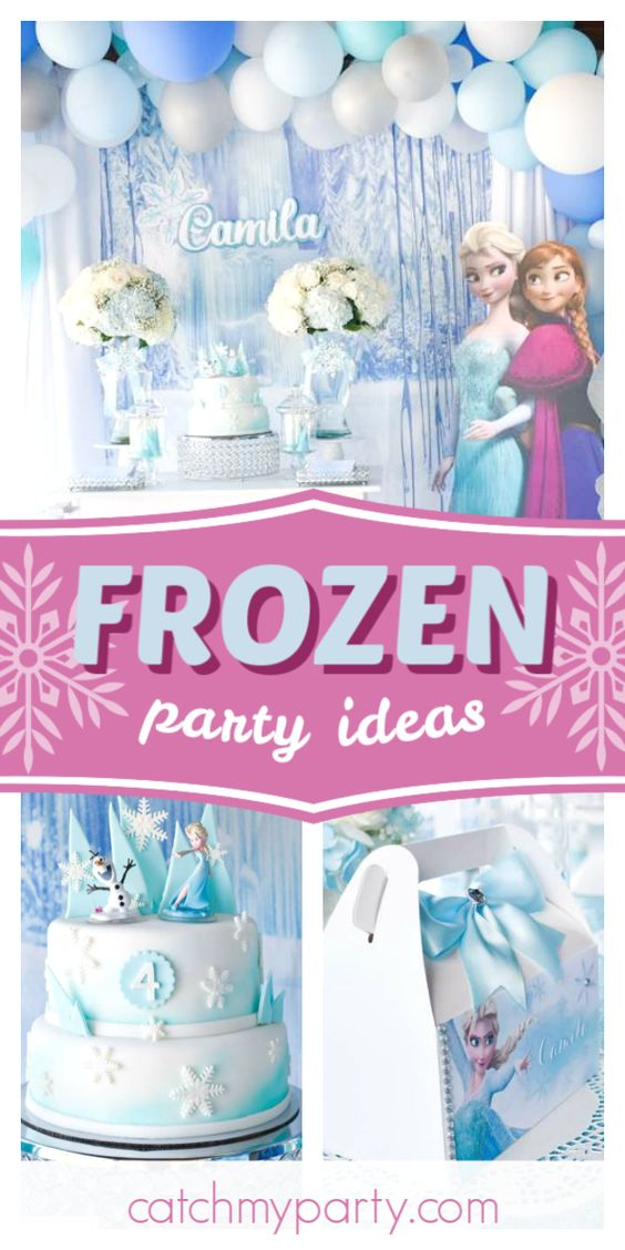 Collage of a Magical Frozen Birthday Party
