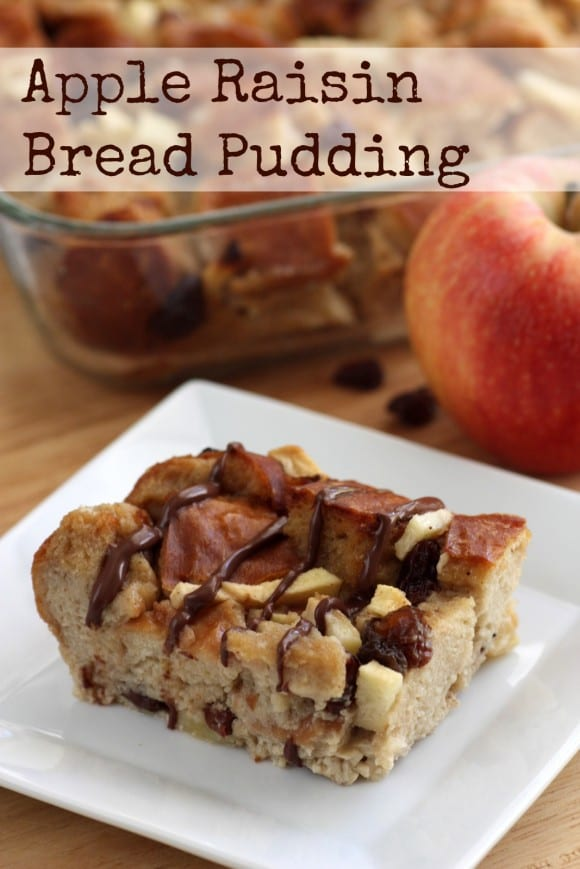 Cinnamon Apple Raisin Bread Pudding Recipe. Delicious! See more recipes at CatchMyParty.com