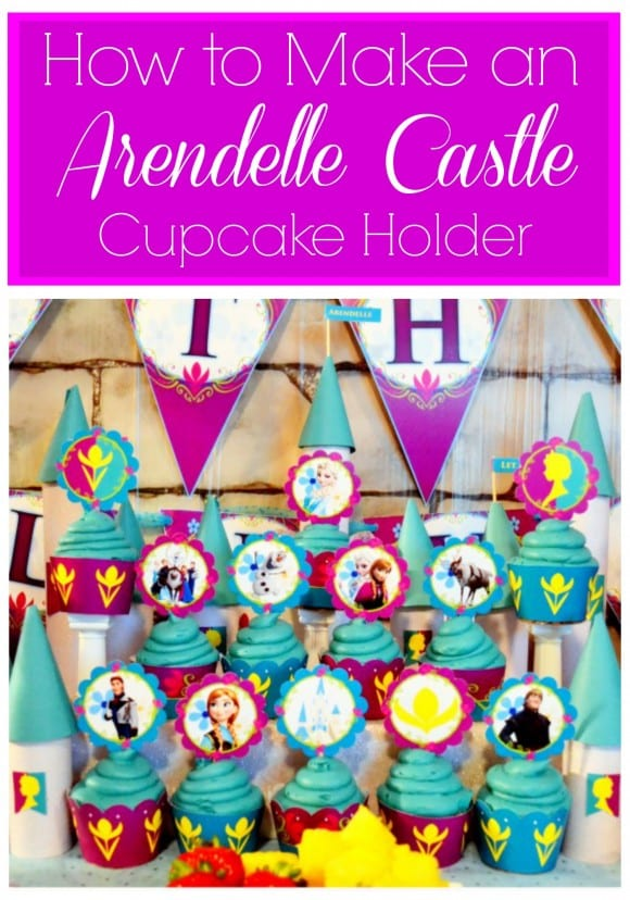 Arendelle castle cupcake holder DIY | CatchMyParty.com
