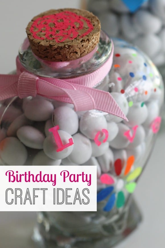 Birthday party craft ideas! See more party ideas at CatchMyParty.com