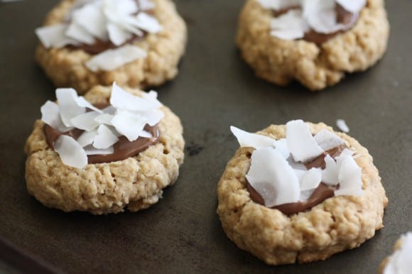 Coconut Nutella Oatmeal Cookie Recipe | CatchMyParty.com