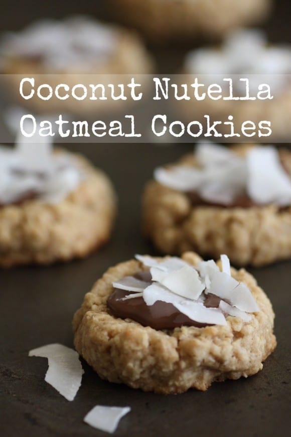 Coconut Nutella Oatmeal Cookie Recipe! | CatchMyParty.com