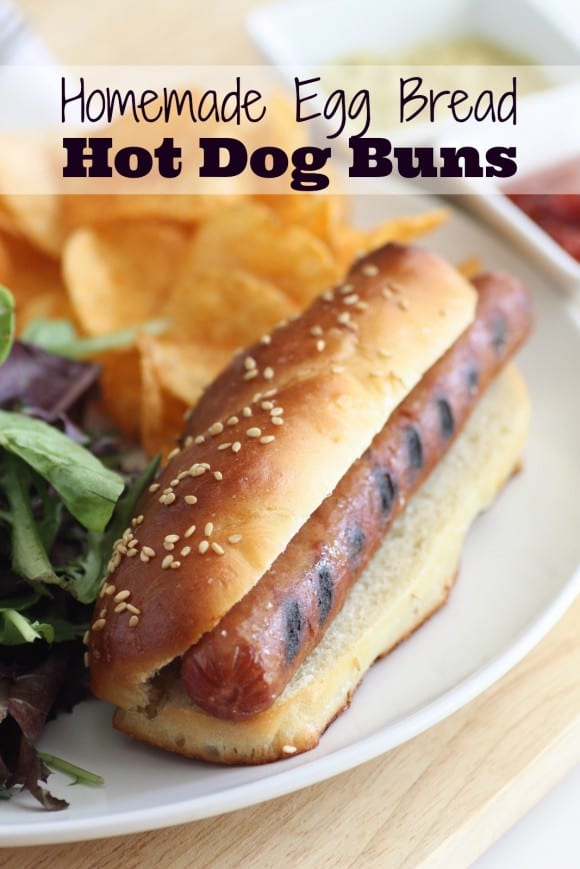 Homemade egg bread hot dog bun recipe | CatchMyParty.com