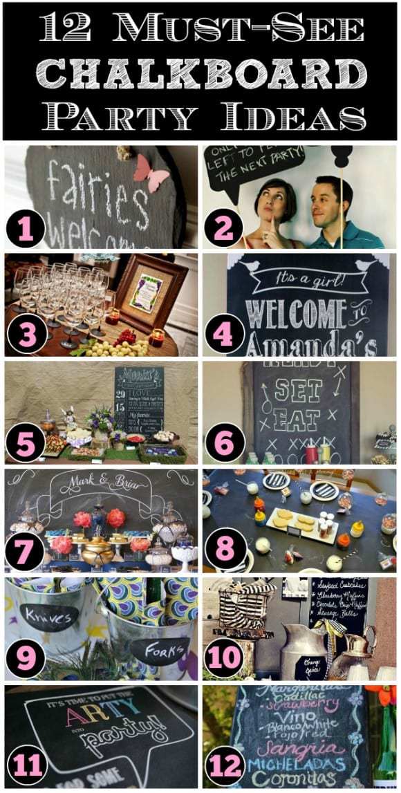 Chalkboard Party Ideas you will love! CatchMyParty.com