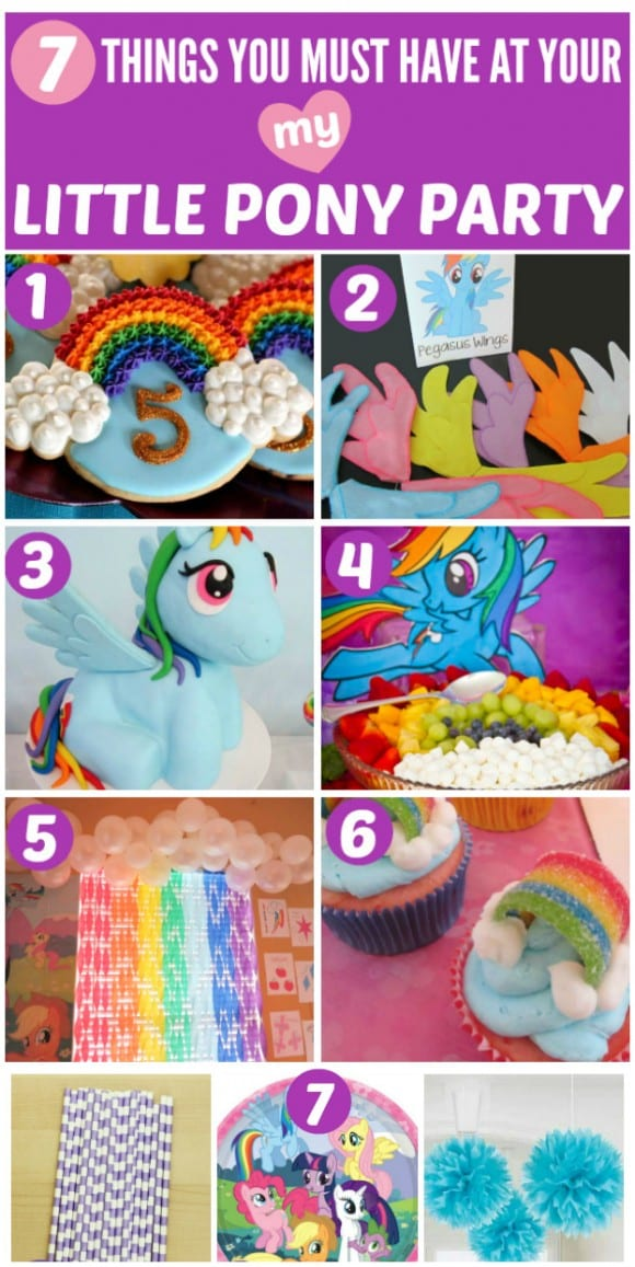 7 Things You Must Have at Your My Little Pony Party | CatchMyParty.com