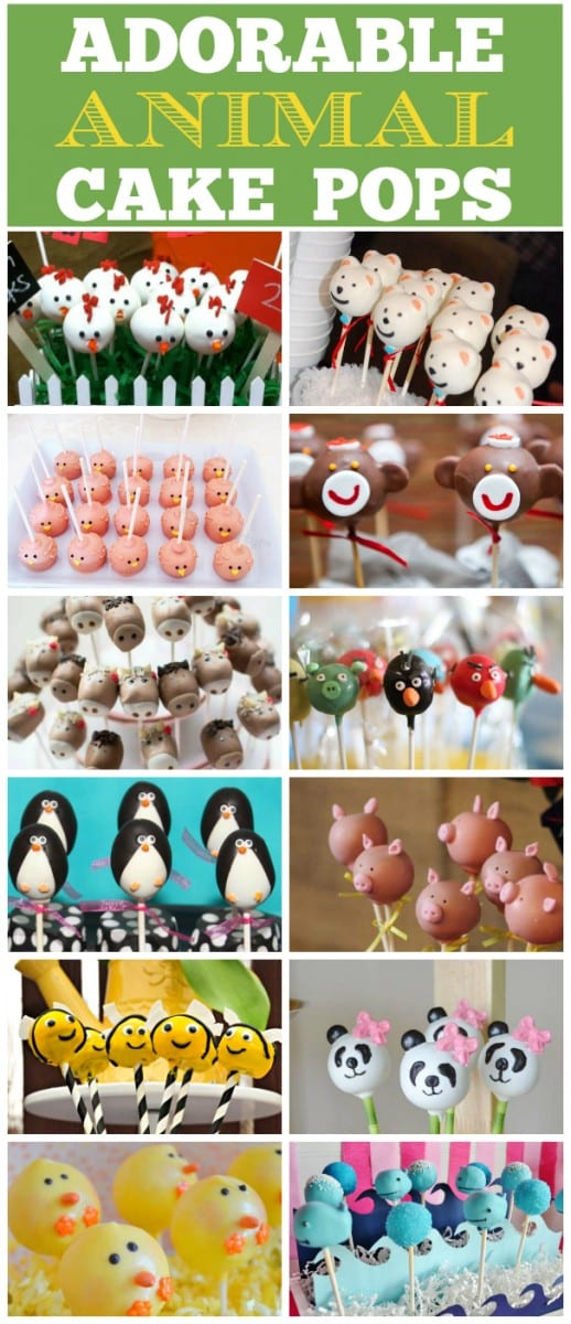 Cute animal cake pops | CatchMyParty.com