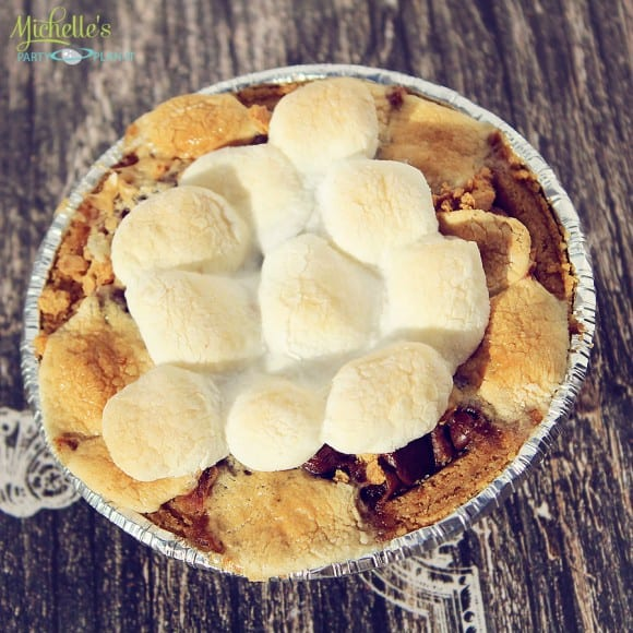 Mini S'mores Brownies Recipe | CatchMyParty.com