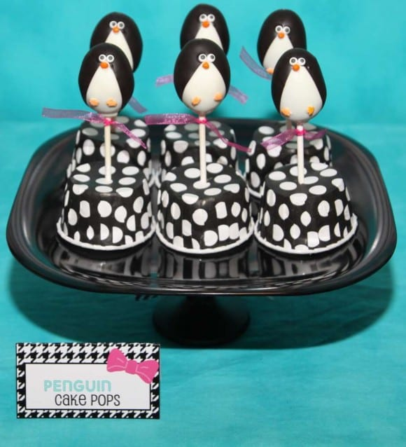 Penguin cake pops | CatchMyParty.com