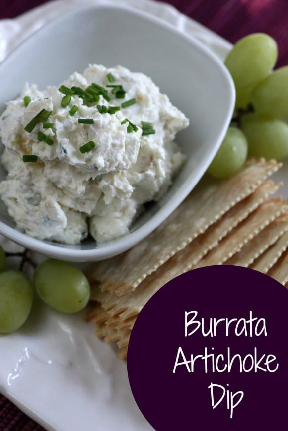 Easy burrata artichoke dip | CatchMyParty.com