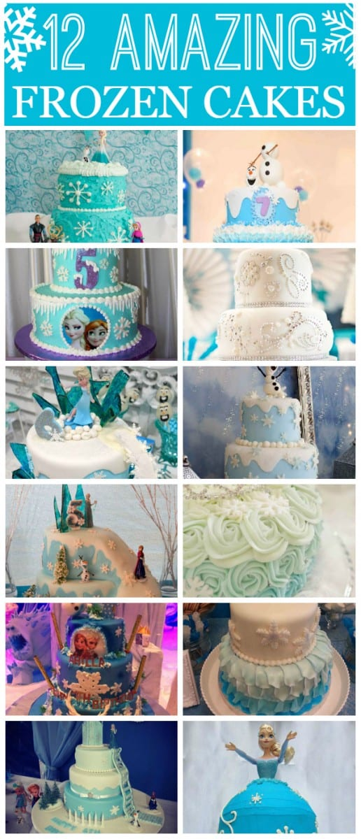 12 Amazing Frozen cakes! | CatchMyParty.com