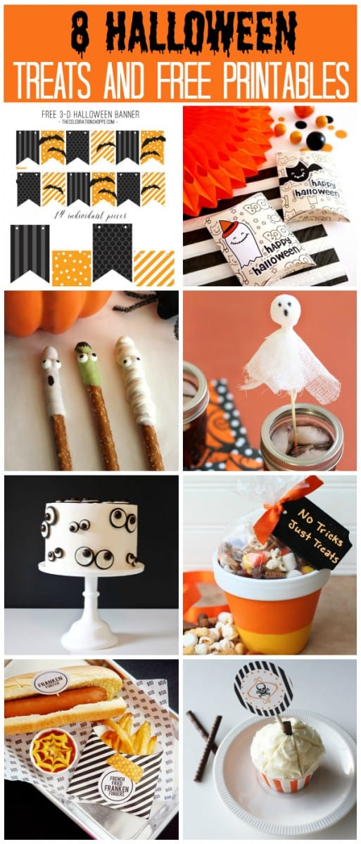 8 Halloween Treats and Free Printables | CatchMyParty.com