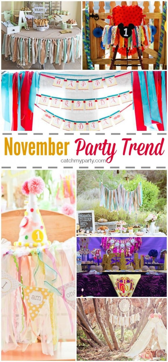 Party trend for November: Fabric Garlands | CatchMyParty.com