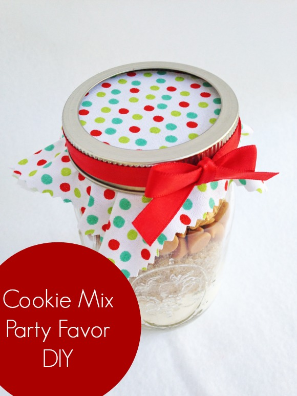 Cookie Mix Party Favor DIY | CatchMyParty.com