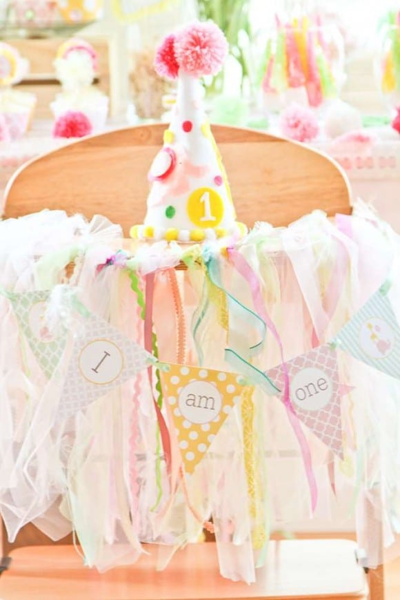 how to make fabric garland for high chair