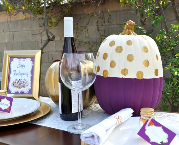 Thanksgiving table setting | CatchMyParty.com