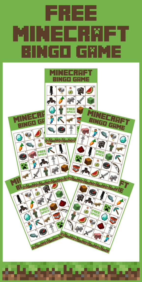 Minecraft Bingo | CatchMyParty.com