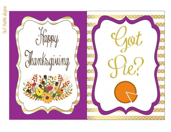 Free Thanksgiving Printable table signs | CatchMyParty.com