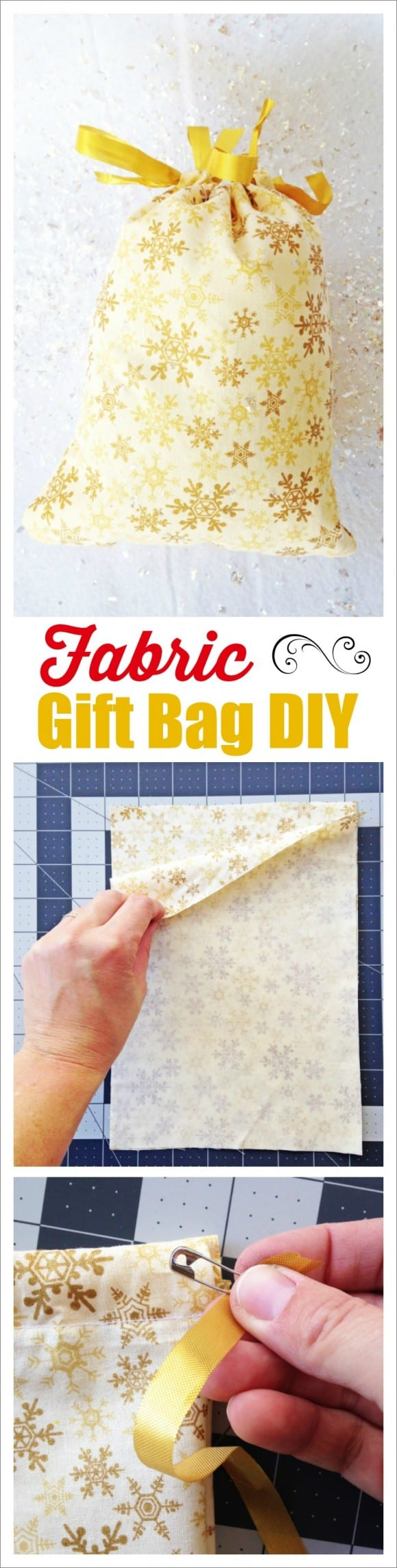 Fabric Gift Bag DIY | CatchMyParty.com