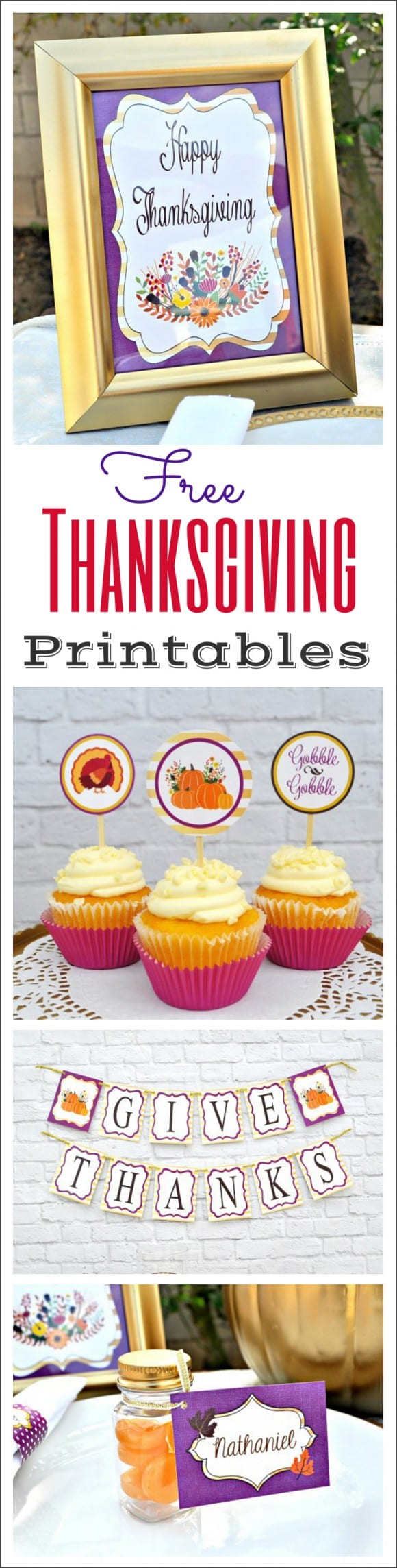 Free Thanksgiving printables | CatchMyParty.com