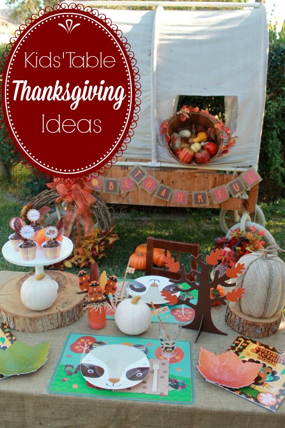 Last-Minute Kids' Table Thanksgiving Ideas |CatchMyParty.com