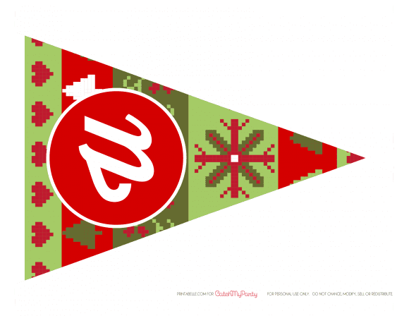 Free Ugly Sweater Party Printable Banner | CatchMyParty.com