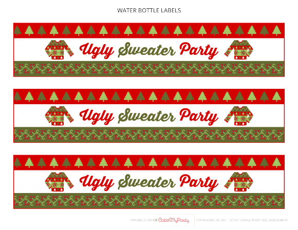 Free Ugly Sweater Party Printables | CatchMyParty.com