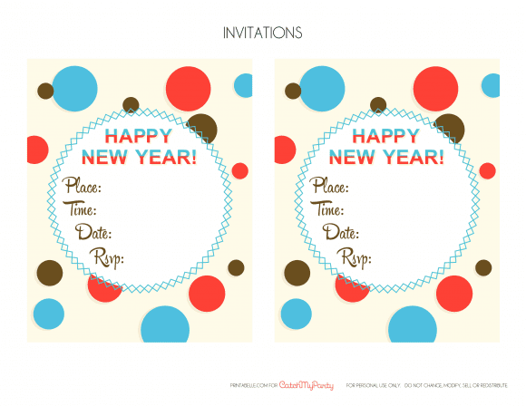 Free New Year's Eve Party Invitations | CatchMyParty.com