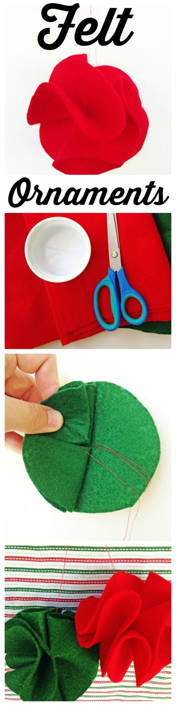 Holiday Felt Ornament DIY | CatchMyParty.com