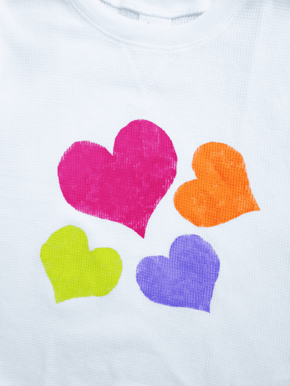 Freezer paper heart T-Shirt | CatchMyParty.com