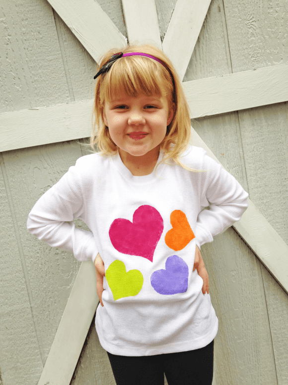 DIY Heart T-Shirt | CatchMyParty.com