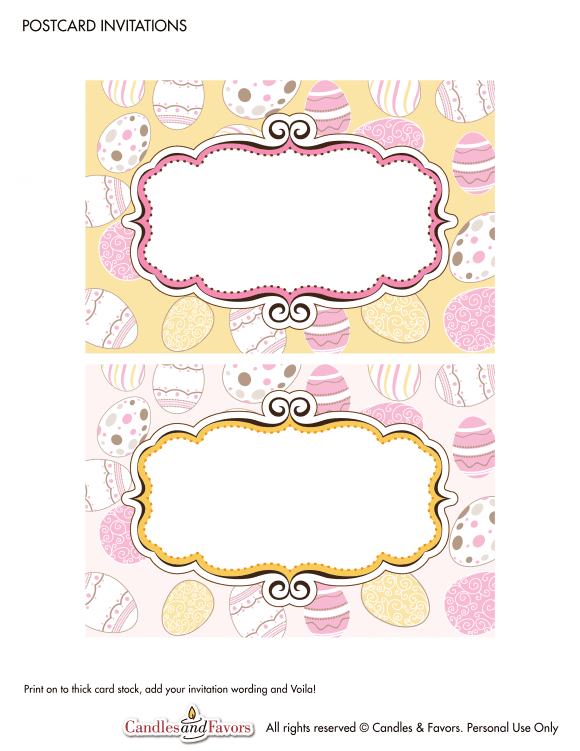 Free Printable Easter Labels | CatchMyParty.com