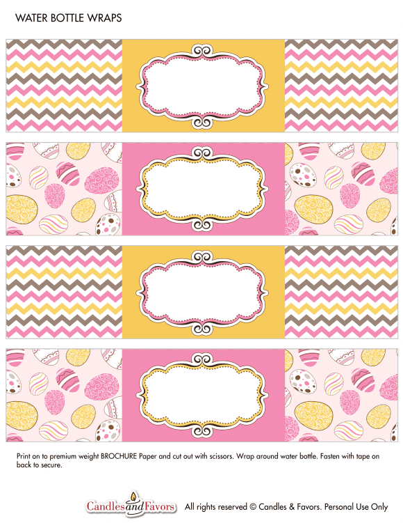 Free Printable Easter Water Bottle Labels| CatchMyParty.com