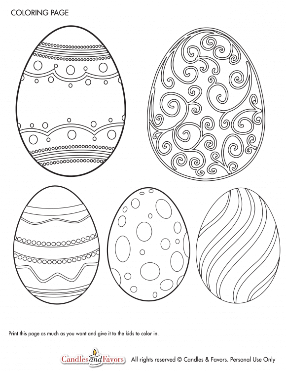 Free Printable Easter Coloring Page | CatchMyParty.com