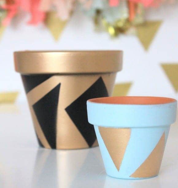 Final Painted Planters | CatchMyParty.com