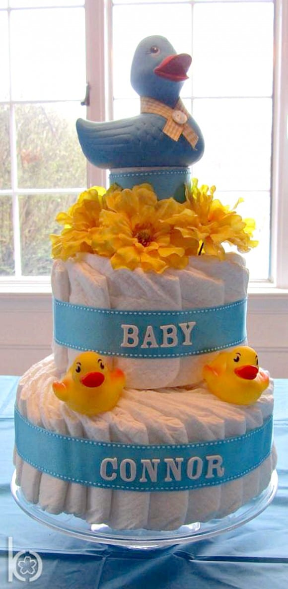 Ducky diaper cake | CatchMyParty.com
