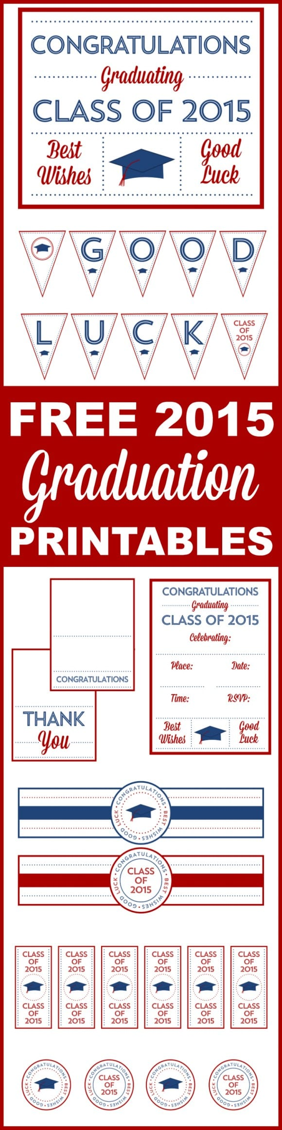 Free 2015 Graduation Printables | CatchMyParty.com
