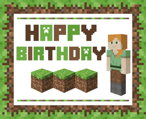GIRL Alex Minecraft Free Printables | CatchMyParty.com