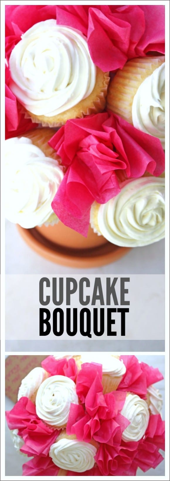 Learn to make this cupcake bouquet. It's perfect as a get well gift or party dessert! |CatchMyParty.com