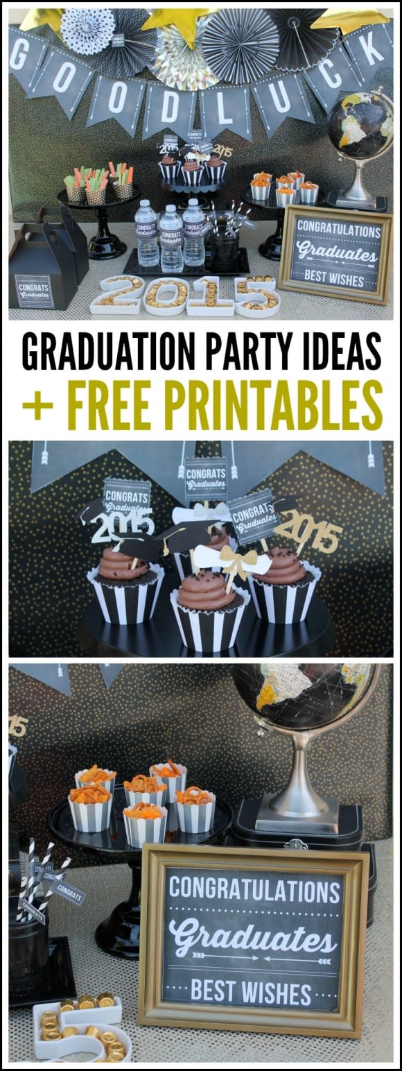 Graduation Party Ideas + Free Printables | CatchMyParty.com