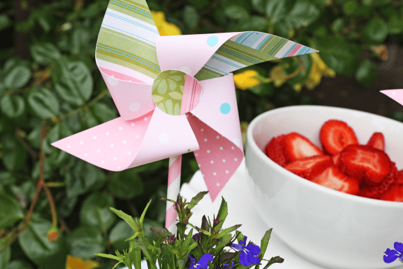 Flower Pot Pinwheel | CatchMyParty.com