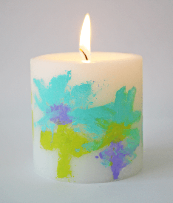Last minute Mother's Day candle craft for kids | CatchMyParty.com