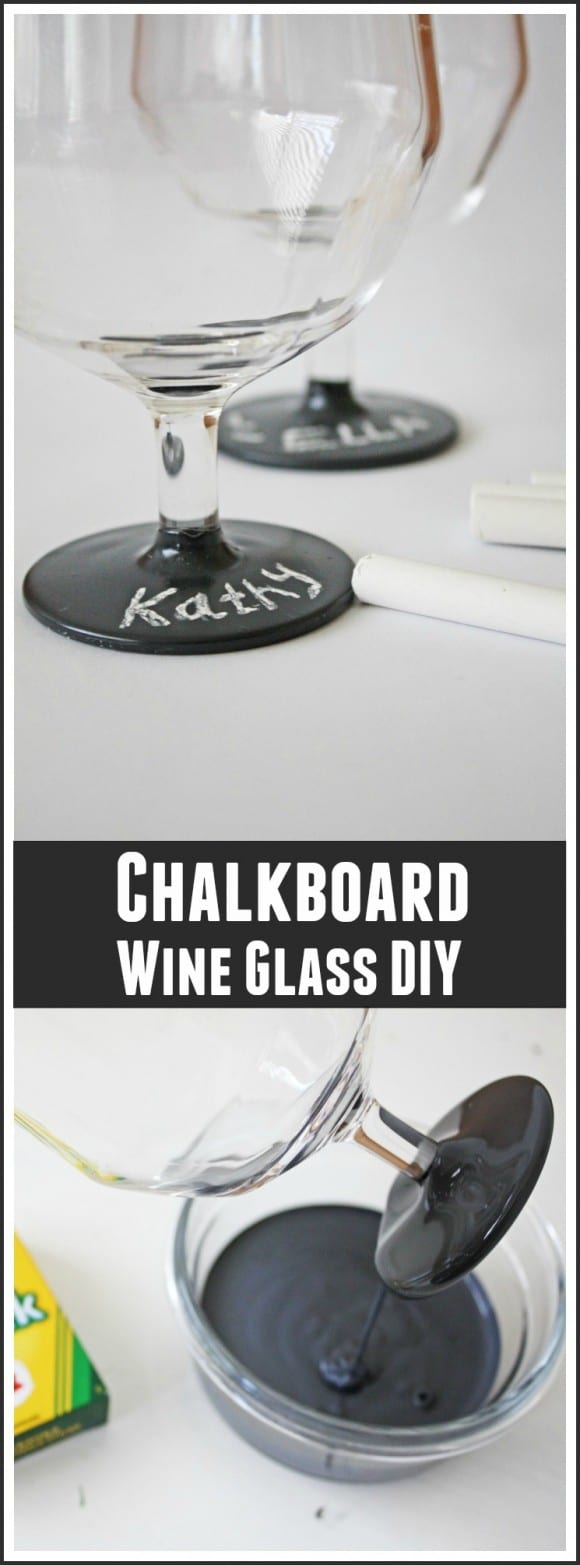 Chalkboard Wine Glass DIY | CatchMyParty.com